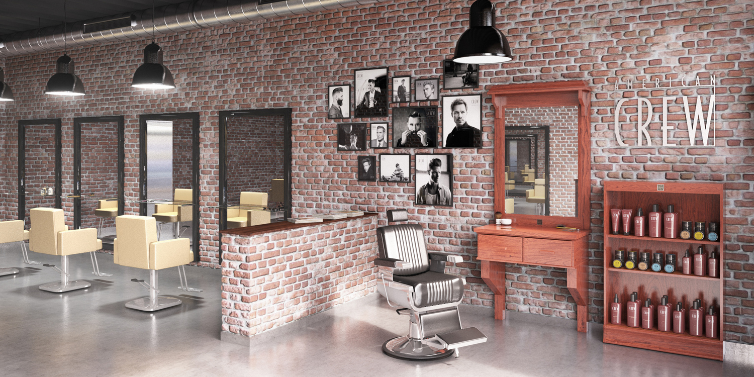 AMERICAN CREW BARBER UP TO YOU STUDIO FASHION & BEAUTY INTERIOR DESIGN