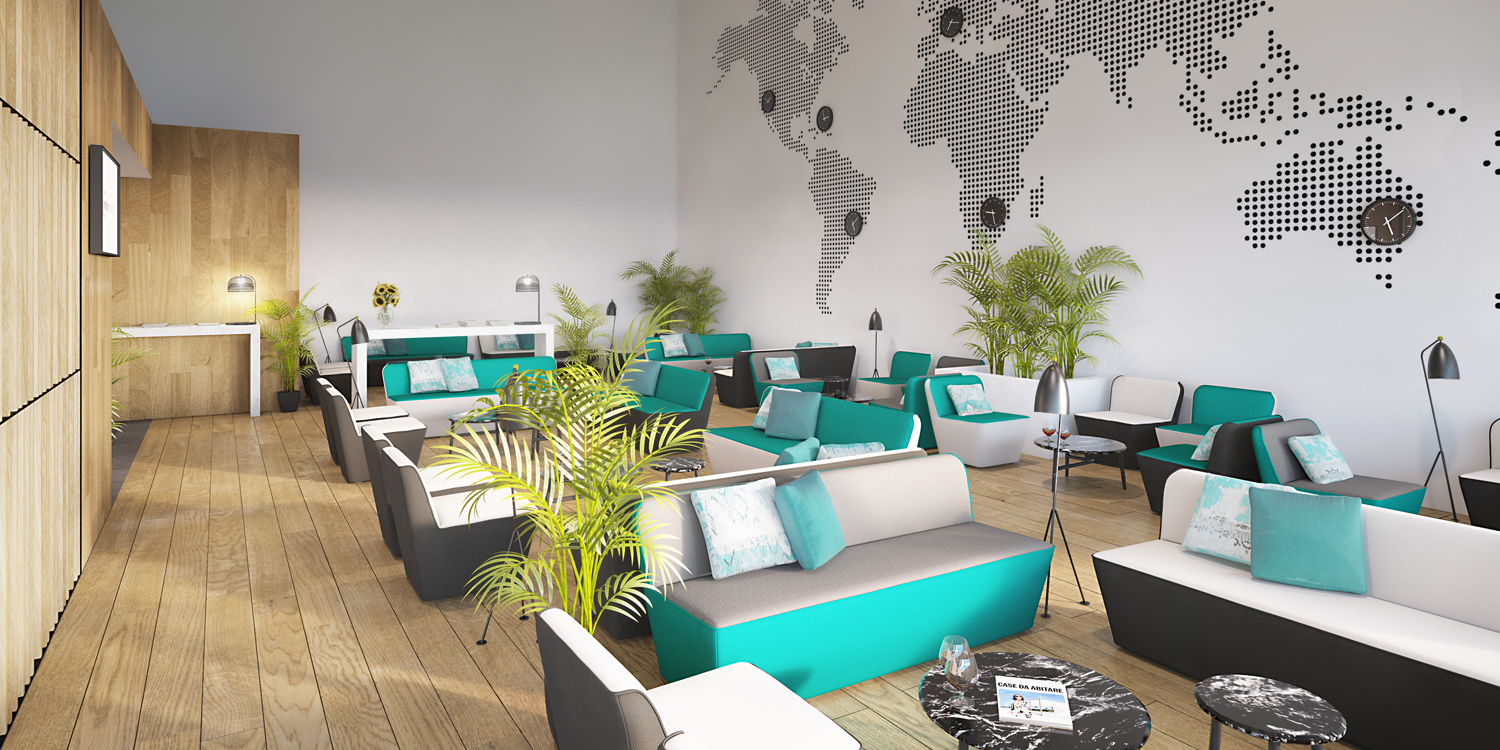 CARIBE VIP LOUNGE SQD UP TO YOU STUDIO AIRPORT INTERIOR DESIGN