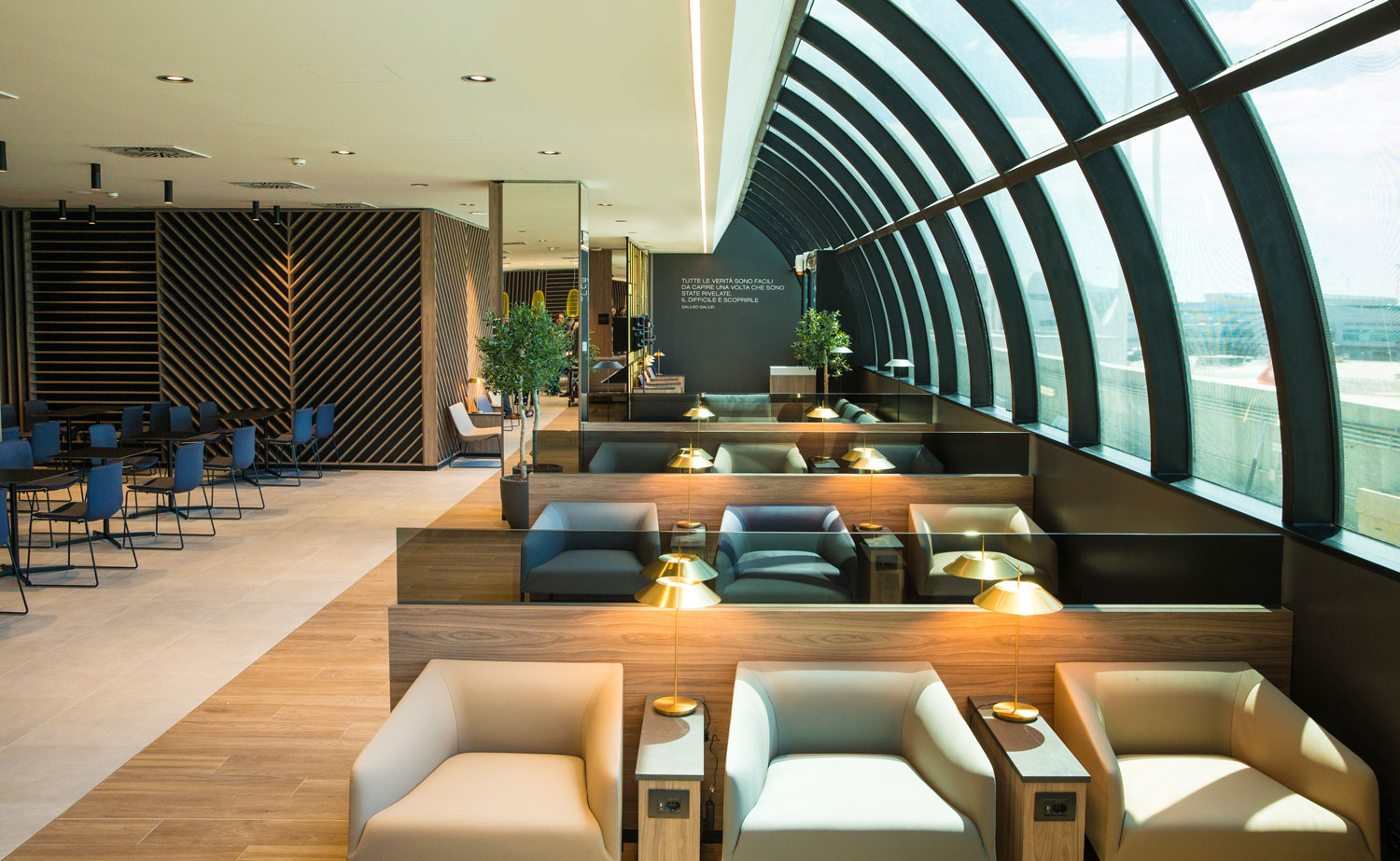 VIP LOUNGE STAR ALLIANCE LOUNG FIUMICINO ROME UP TO YOU STUDIO AIRPORT GLOBAL CONCEPT DESIGN INTERIOR DESIGN BRAND IDENTITY