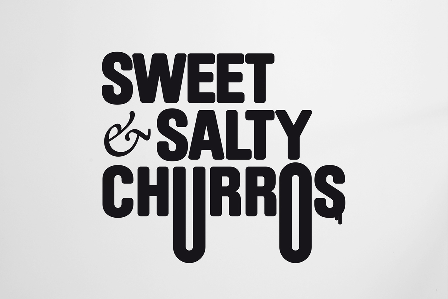 SWEET & SALTY CHURROS UP TO YOU STUDIO PROFESSIONAL SERVICES HOSPITALITY & LEISURE GRAPHIC DESIGN BRAND IDENTITY