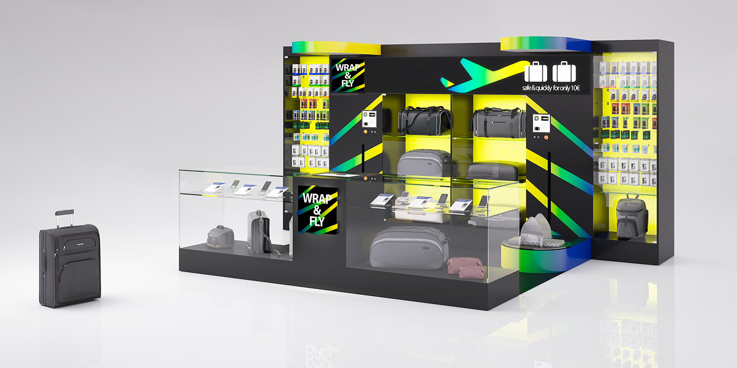 WRAP & FLY UP TO YOU STUDIO AIRPORT DISEÑO DE CONCEPTO GLOBAL DISEÑO DE INTERIORES BRANDING